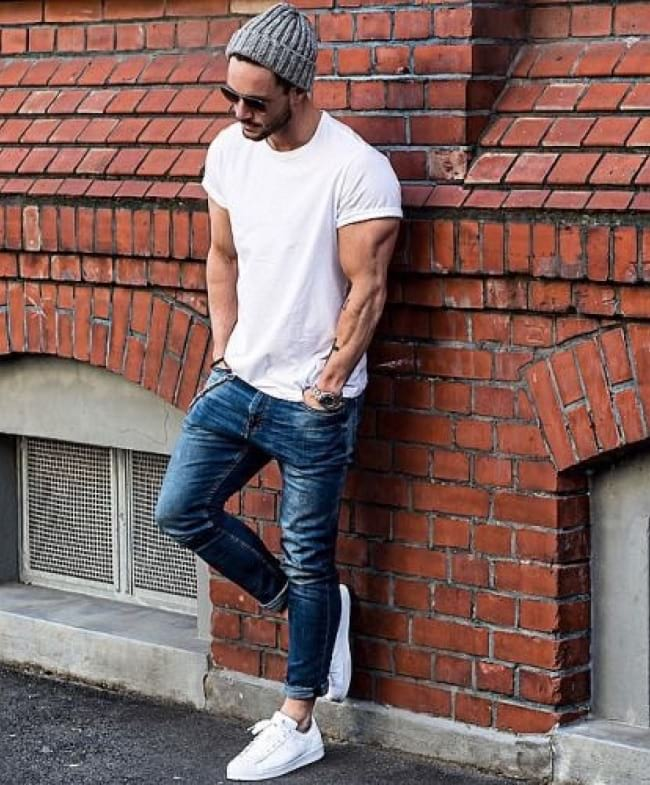 what to wear with your white tees, street fashion for guys