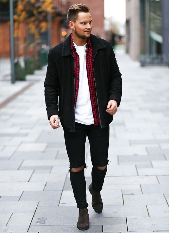 white shirt and jeans male outfit ideas, casual wear for men pictures
