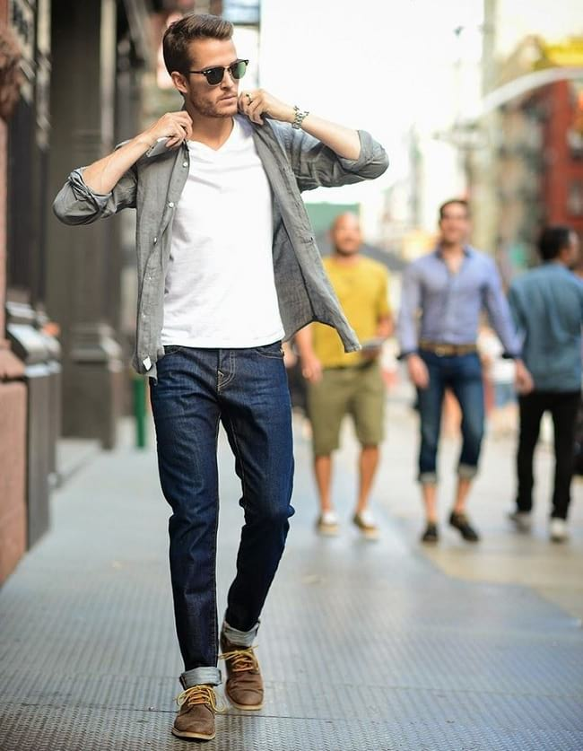 how to wear and look cute in a white t shirt, men street fashion clothing