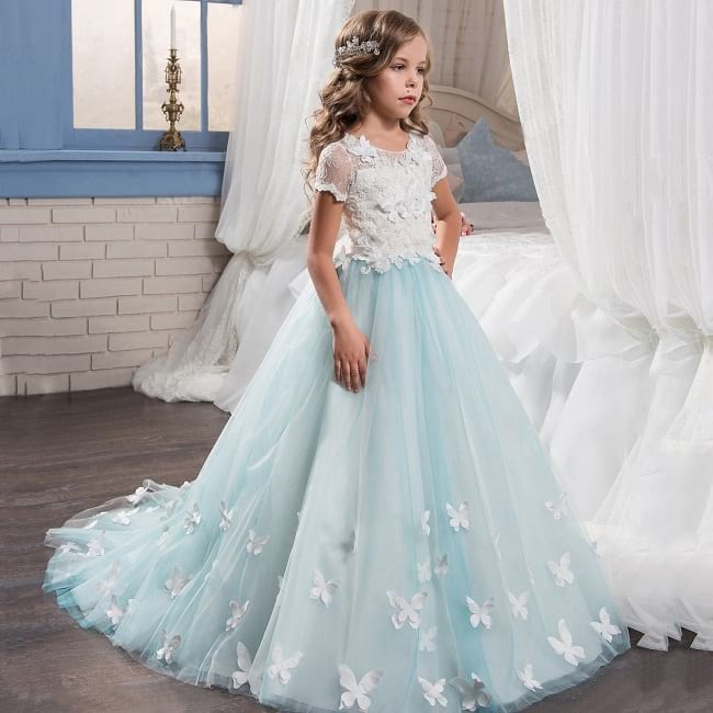 indian party wear gowns for girls, baby frock style pic