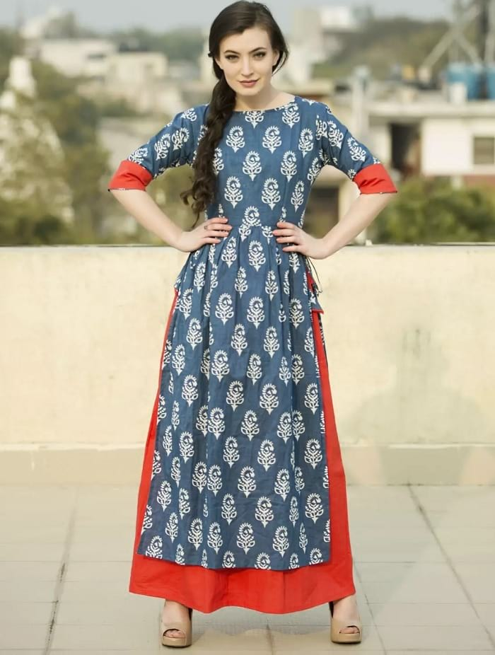6c6f82d60 50 Long Kurti Designs for You to be the TRENDSETTER! - LooksGud.in