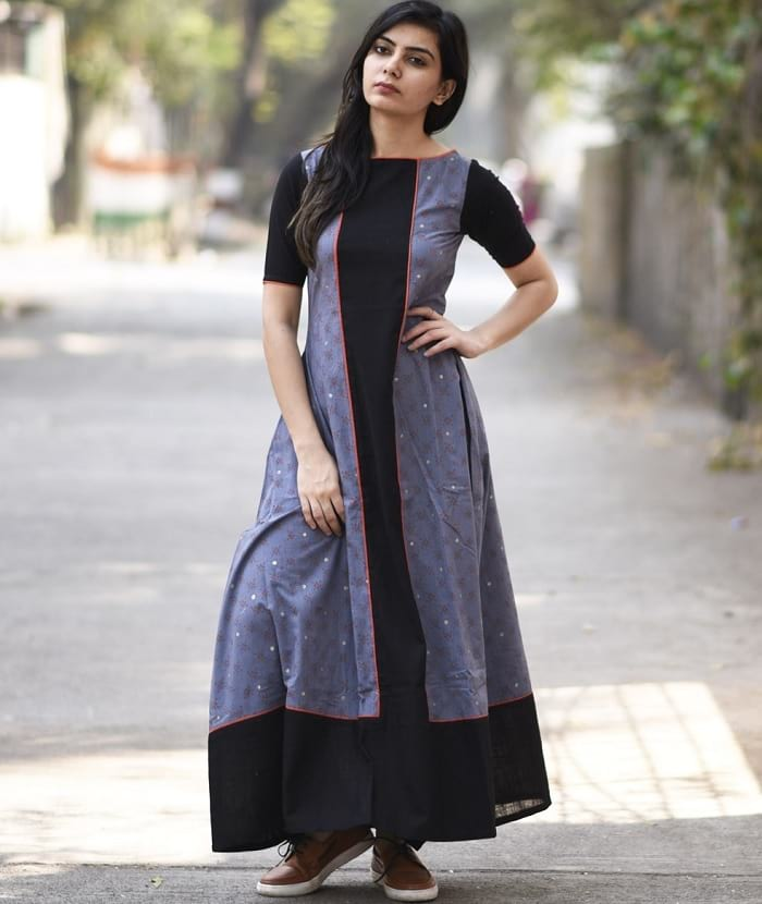 41 cotton kurti designs are really cool for stitching for Floor length kurti