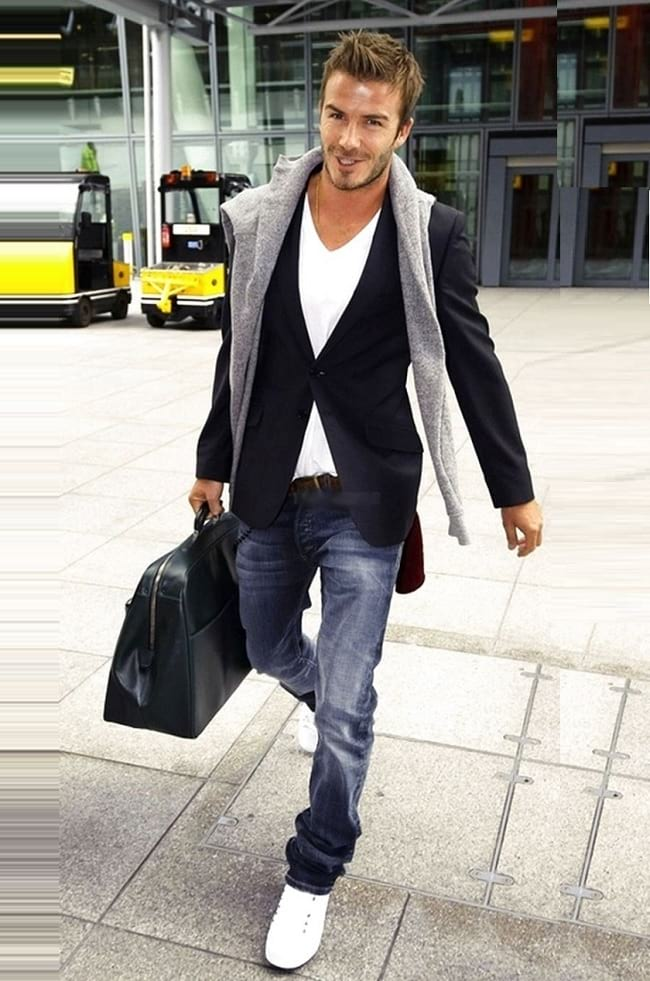 ideas to wear white t shirt and jeans outfits for men, blazer with jeans men