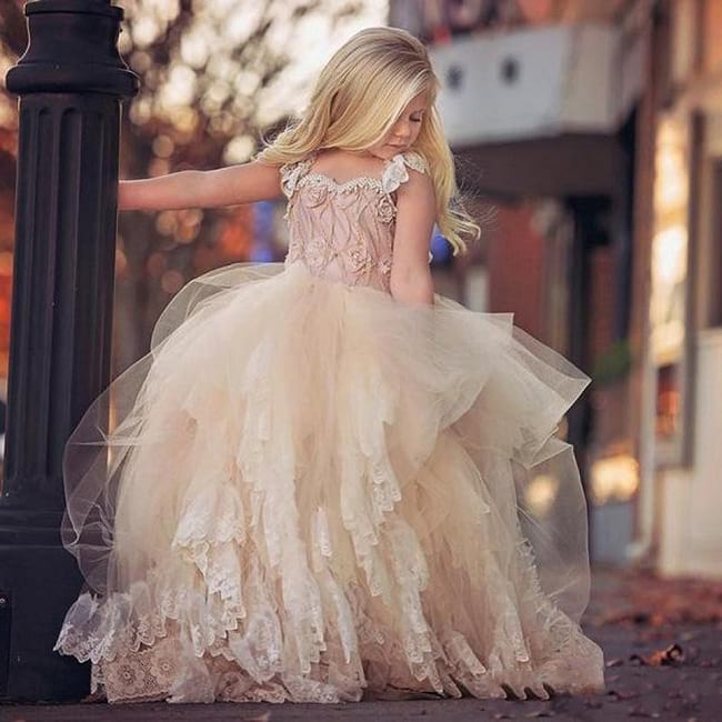 girl's latest party wear frocks and dresses, baby frock design cutting and stitching