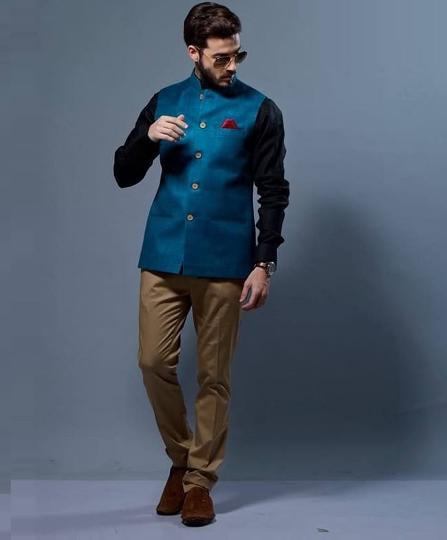 best nehru jacket and pant shirt colour combination for men
