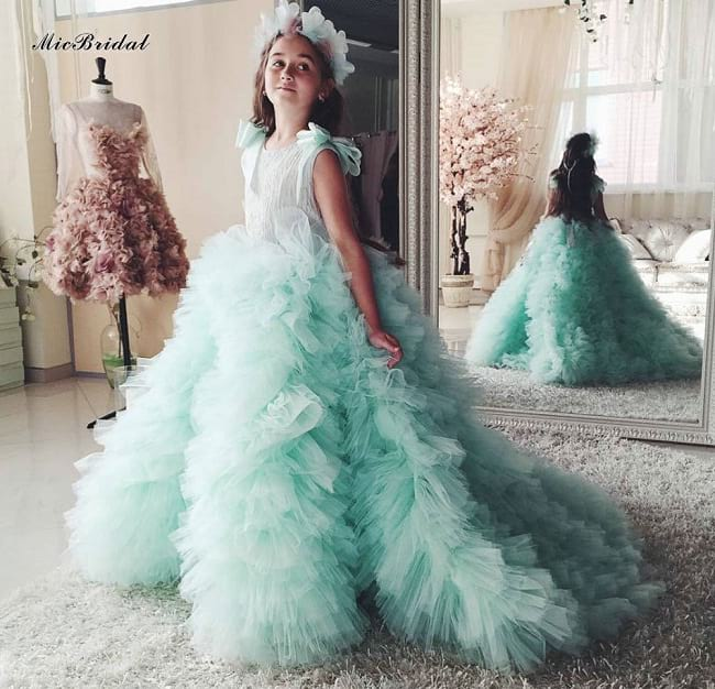 princess gowns and frock designs to wear in wedding, party wear frock designs for child