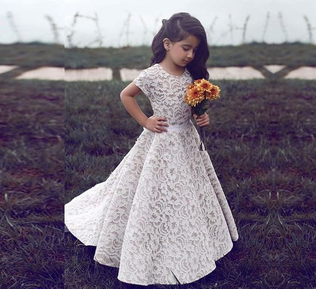 gown styles for little girls, a-line dresses designs