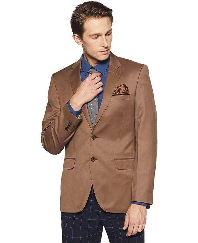 b84fef211e2 Polish off any dapper look owning the classy definition of blazers with  Raymond. The stylized blazers by this brand give a contemporary fit and are  a ...