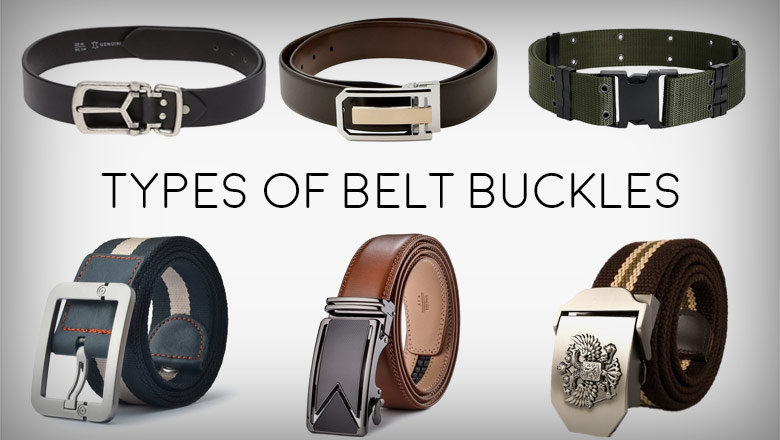 Different types of belts and buckle designs and patterns for men