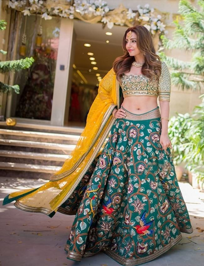 Exquisite Teal Blue Embroidered Lehenga Choli