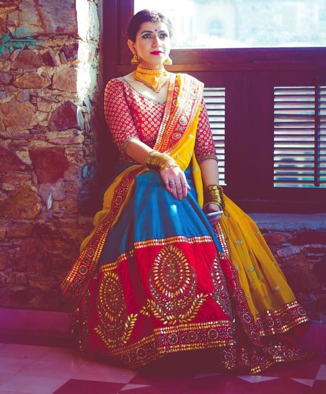Multicolor New Stylish Bridal Lehenga