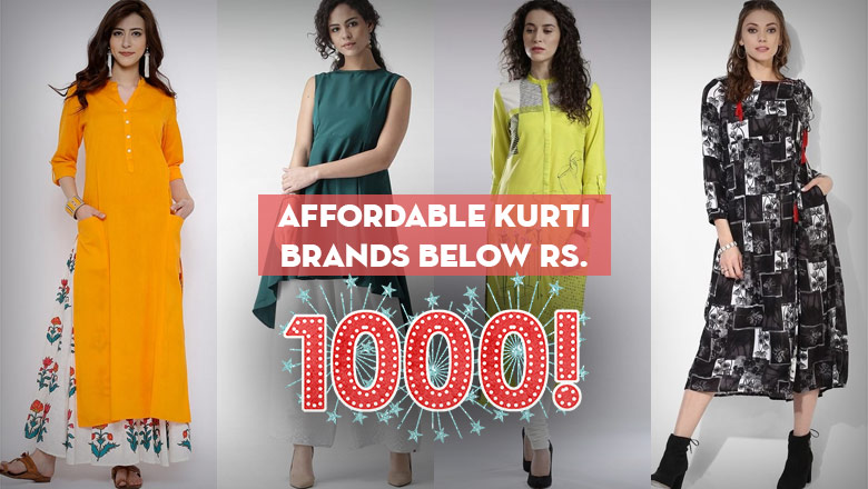 Best Cheapest Kurti Brands Below Rs. 1000 to Buy online in india