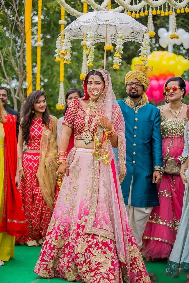 Pink & Light Pink Combination Perfect Indian Touch Lehengas