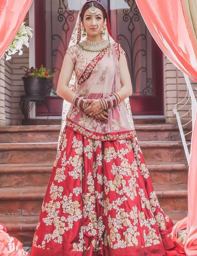 Maroon Additional Embellishments Designer Lehengas