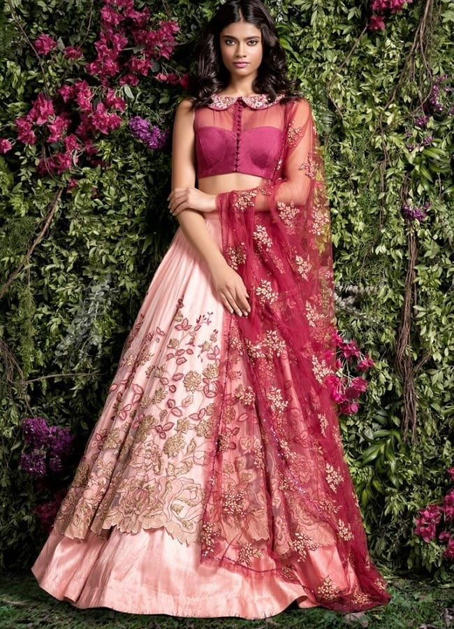 Graceful & Unique Eye Catching Bridal Layered Lehengas