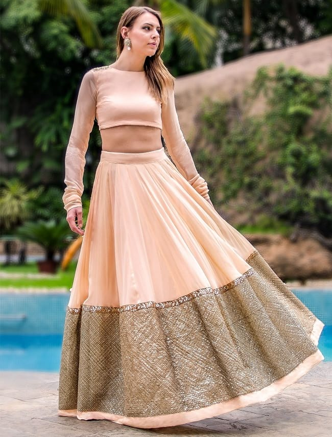 Rose Pink Cotton Silk Lace Work Simple Charm Full Lehengas