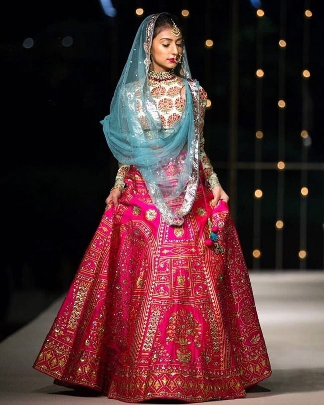 Multi Color Cotton Silk Indian & Internationl Stylish Grace Full Bridal Lehengas