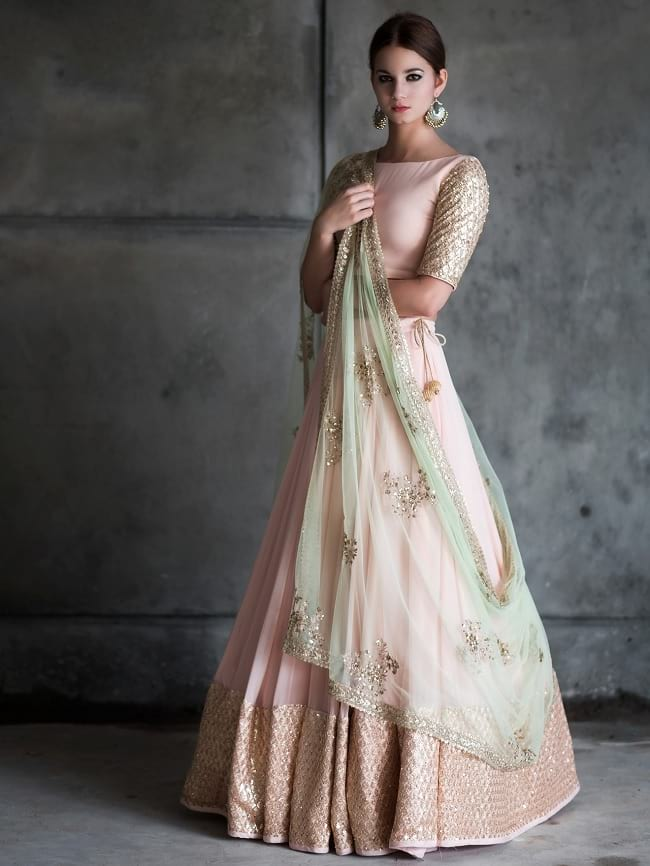 Light Pink Red-Carpet & Marriage Function Lehengas