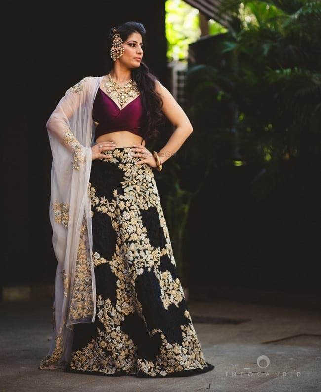 Purple Honored Combination Look For Perfect Bridal Lehengas