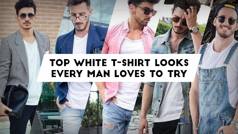 how to style a white t-shirt and jeans, outfits ideas to wear white tees for guys
