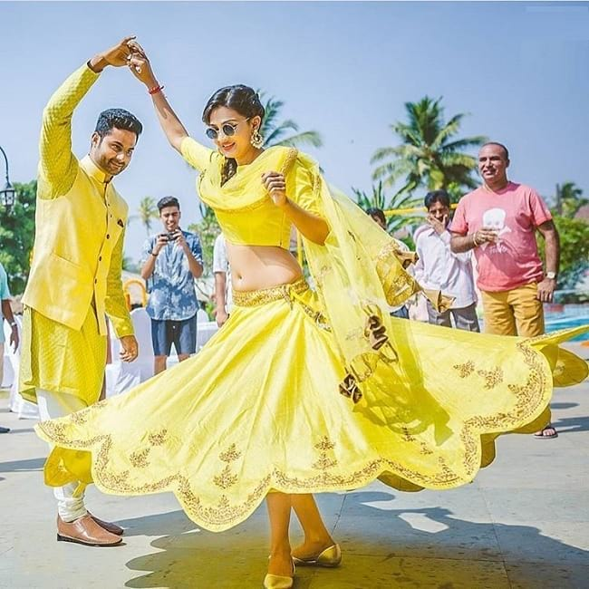 Yellow Stylist Designer Wedding Lehenga Look