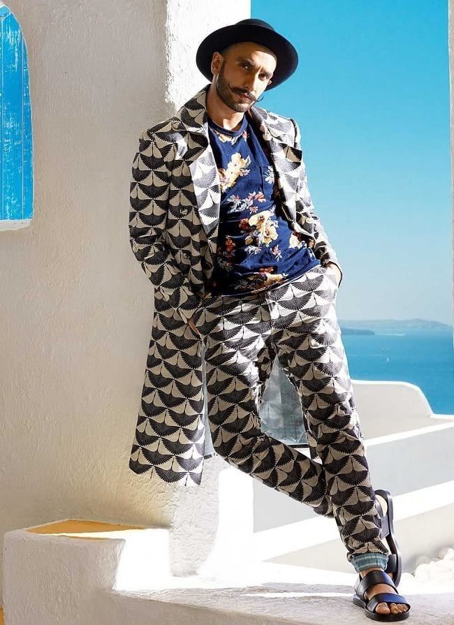 ranveer singh whole printed look