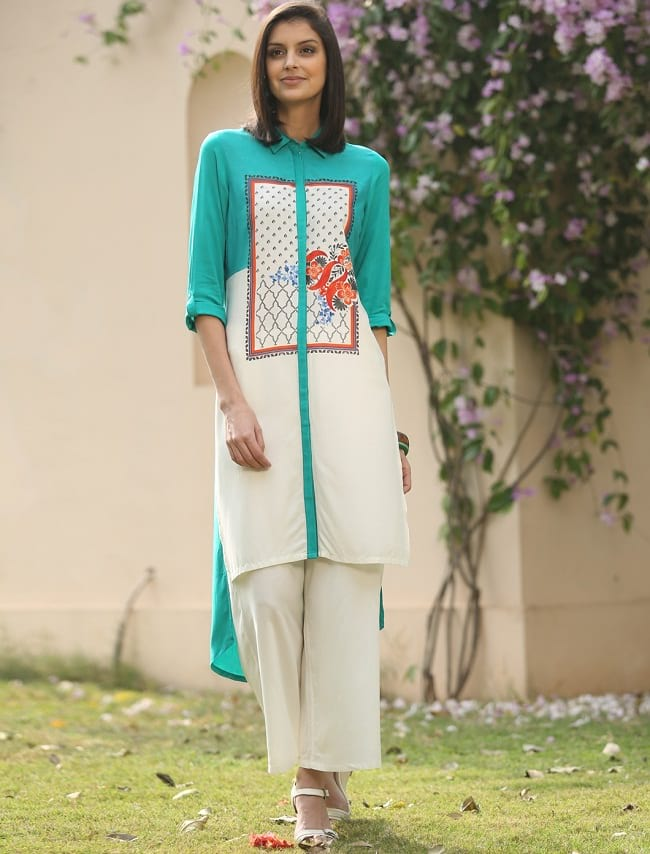 W for woman cotton kurtis online shopping at low price