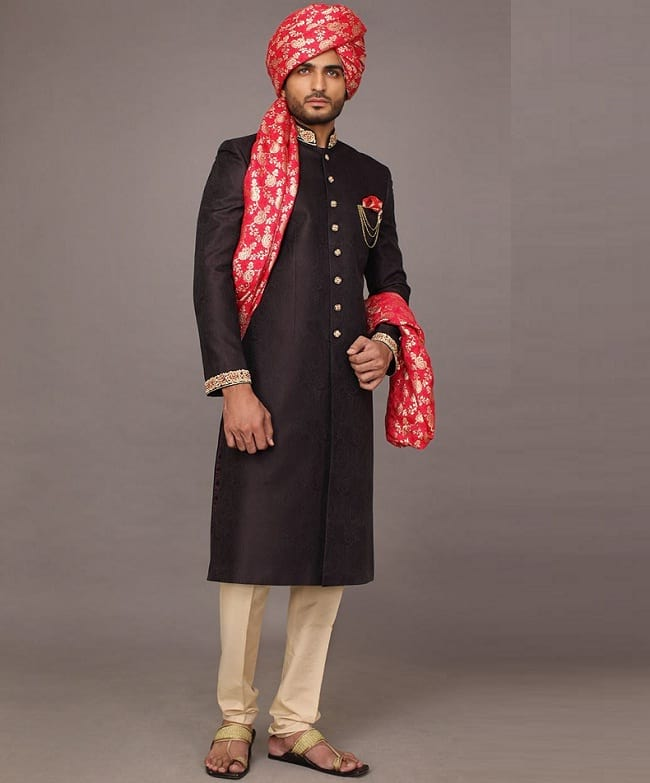 best printed sherwani forn pakistani groom online with price