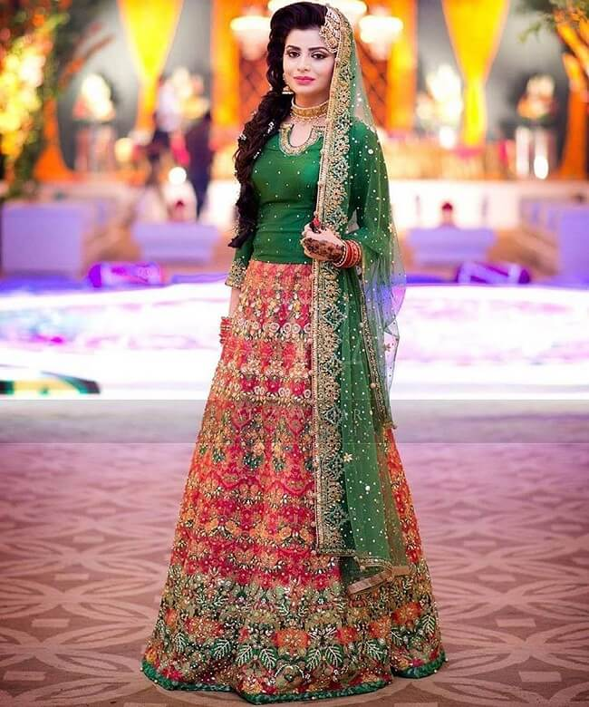 pakistani bridal lehenga designs styles pictures 2017