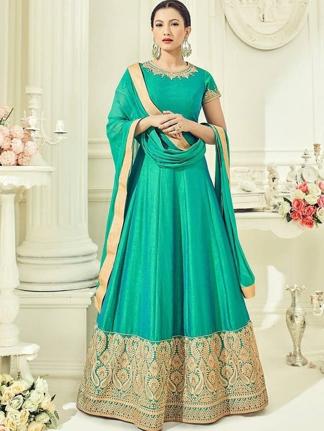 blue heavy embroidered wedding suit
