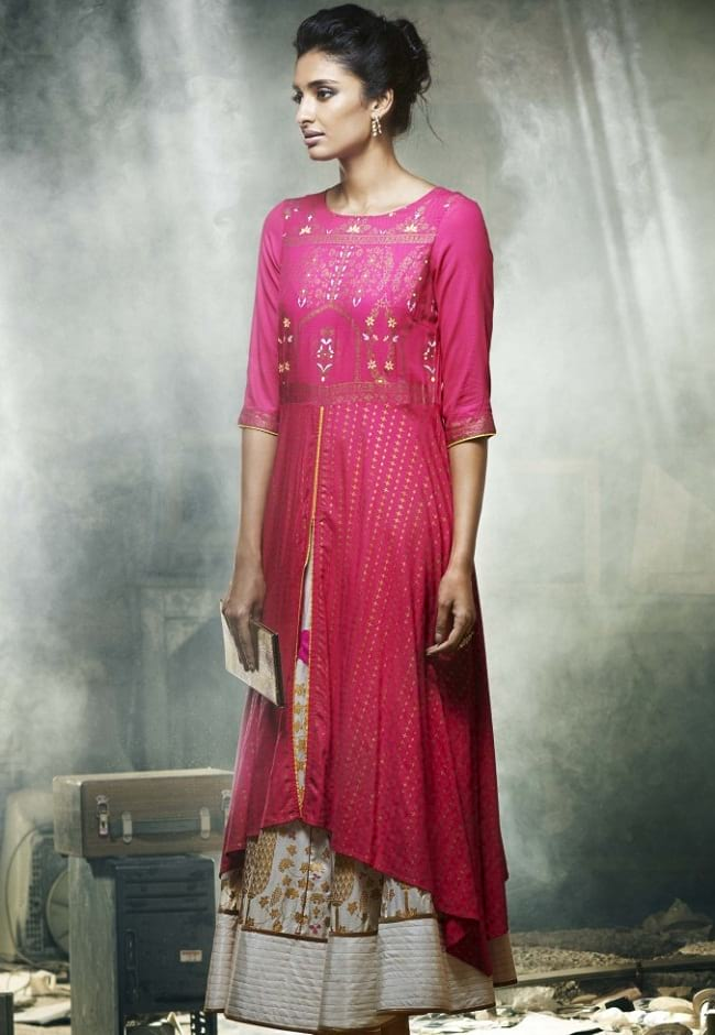 buy W for woman designer cotton kurti online purchase