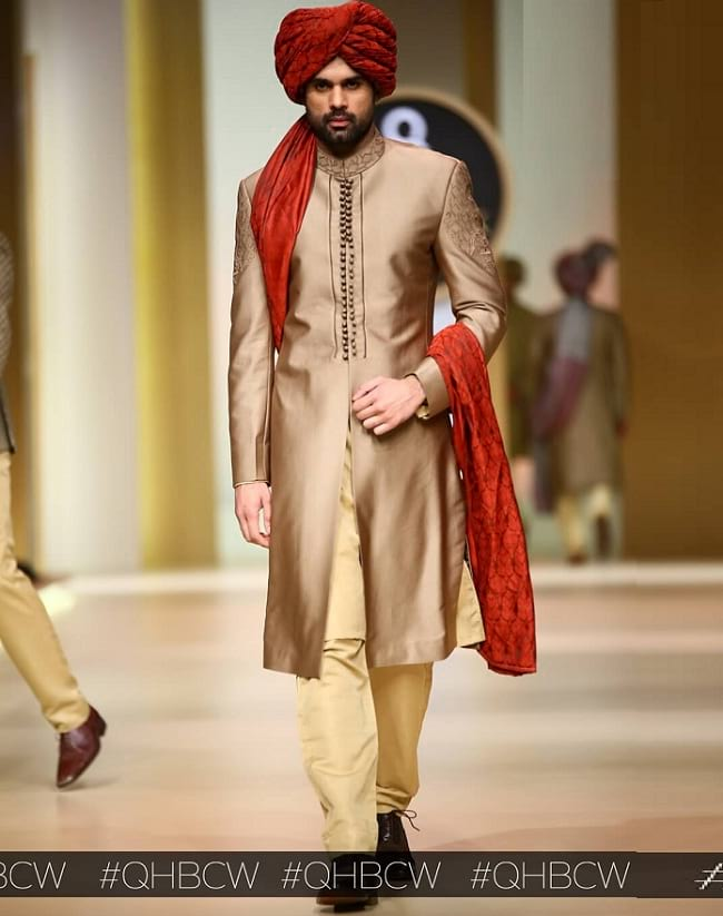 simple but tanding sherwani for groom