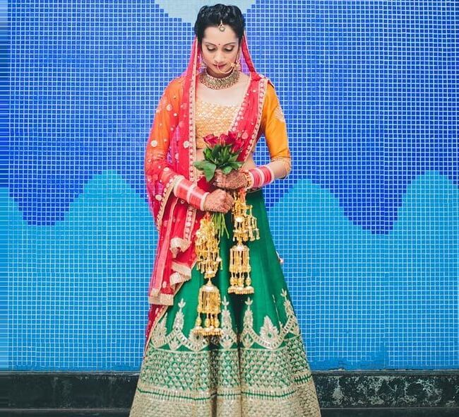 indian bridal lehenga look photos