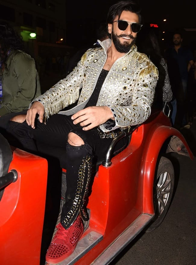 party wear look of ranveer singh