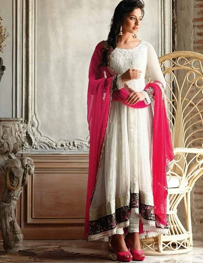 embroidered tail cut salwar suit online with image