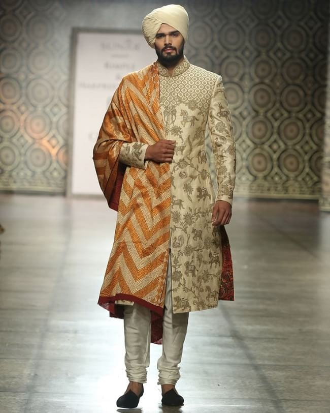 Embellished Wedding Sherwani for India