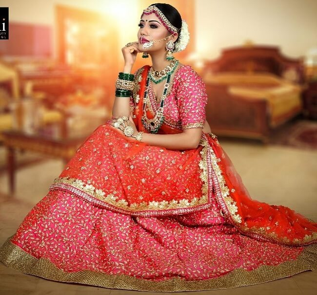 bridal photoshoot indian