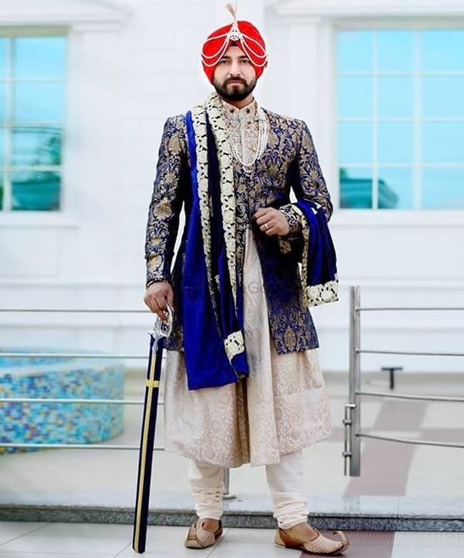 Different Types of Wedding Sherwani Designs