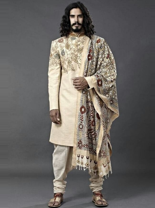 Kalamkari Wedding Sherwani, Wedding Sherwani for Indian Groom