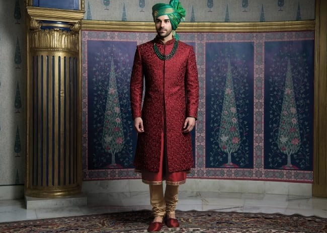 Anarkali Sherwani for Groom, Indian Wedding Sherwani Online