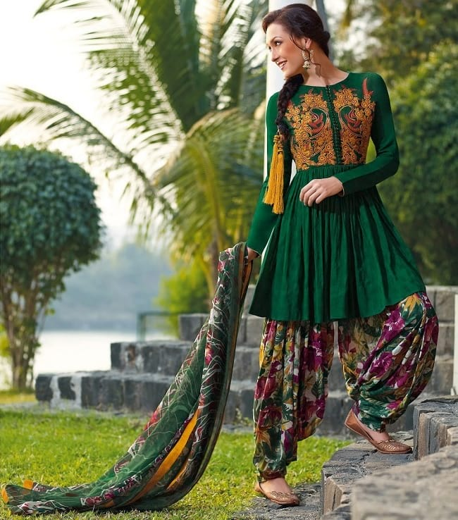 embroidered salwar suits for wedding party