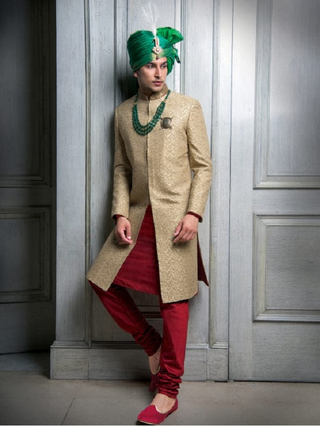 Online Indian Wedding Sherwani for Men