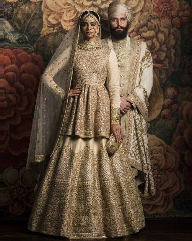 Off White Indian Wedding Dress