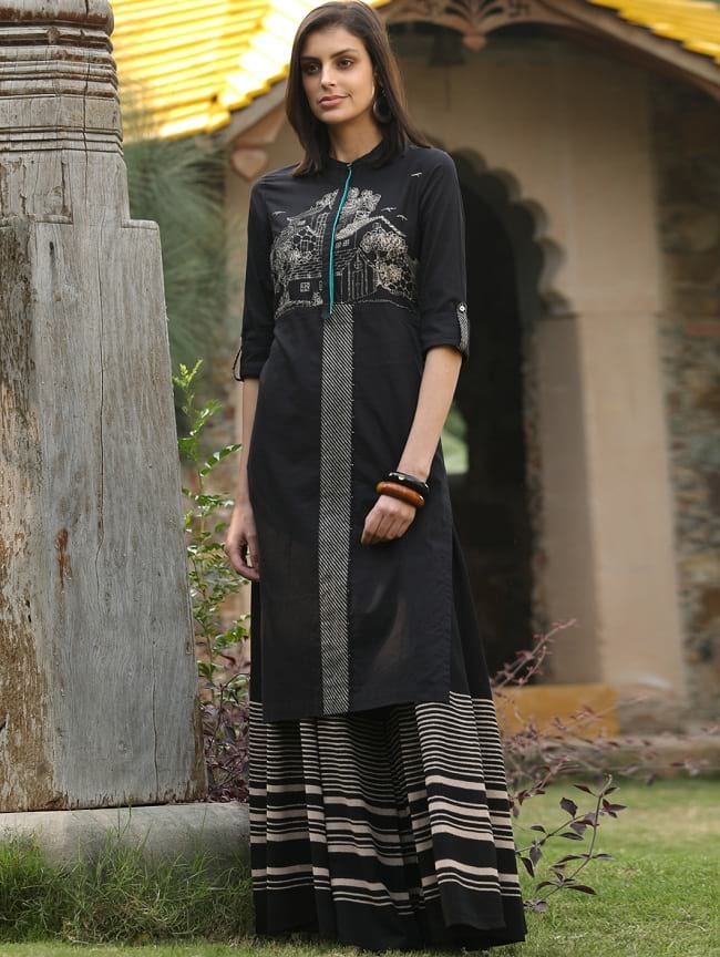 buy W for woman printed long kurtis online