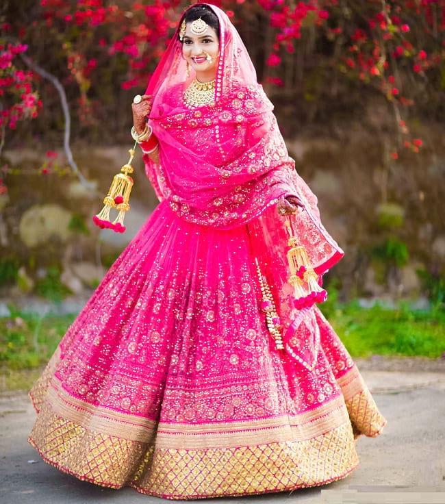 bollywood style punjabi bridal lehenga choli