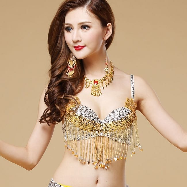 belly dance coin bra and belt sets plus size
