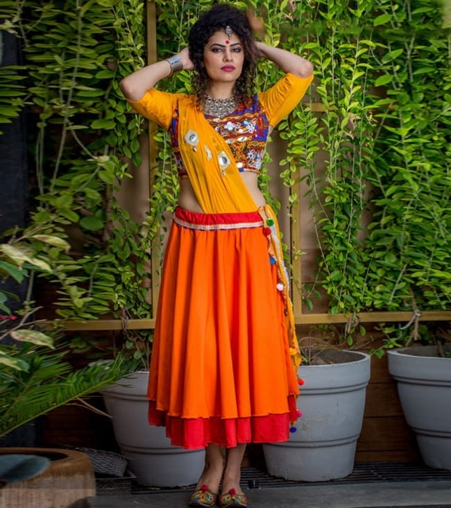 navratri ghagra choli patterns