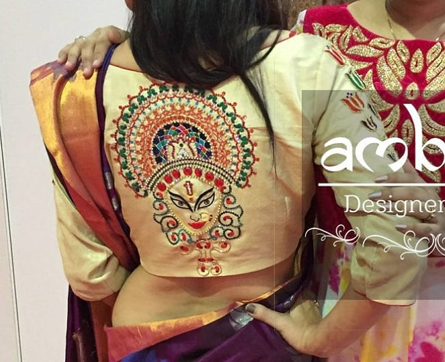 latest maggam work blouses with low price