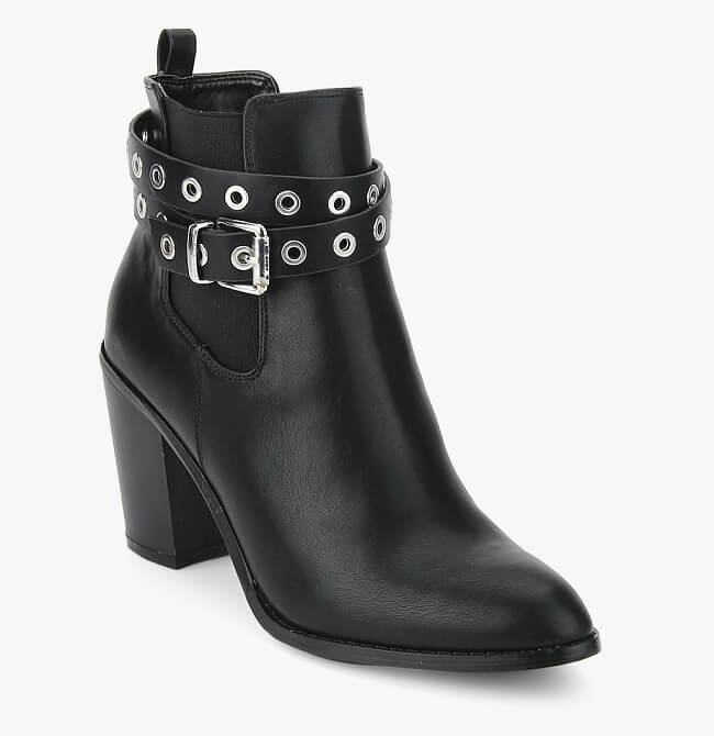 dorothy perkins black solid boots wide fit