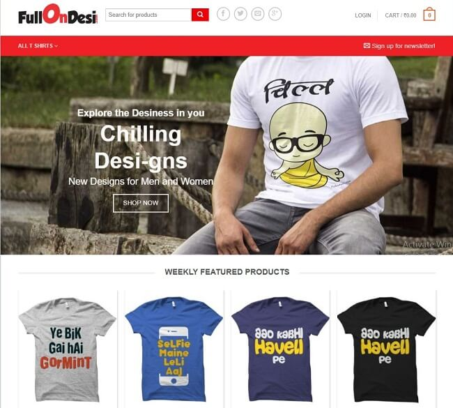 funny printed t-shirts online india